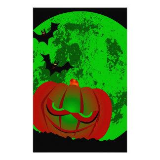 Full Halloween Moon Stationery