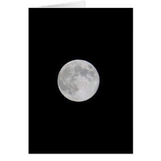 Full Harvest Moon Blank Note Card