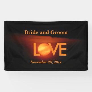 Full Harvest Moon Wedding Banner