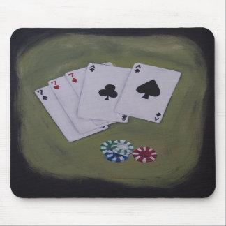 Full House Aces Sevens Poker Mousepad