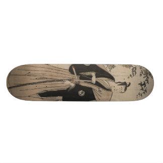 Full-length Portrait of a Samurai Warrior c. 1780 Skate Boards