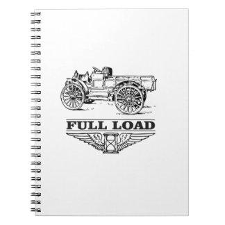 full load truck go note books