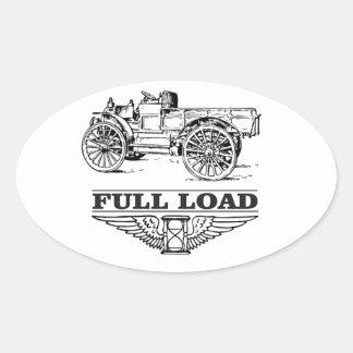 full load truck go oval sticker