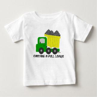 Full Load Yellow Dump Truck Baby T-Shirt
