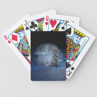 Full Moon Among the Treetops Bicycle Playing Cards