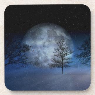 Full Moon Among the Treetops Coaster
