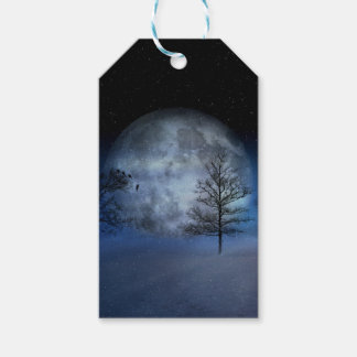 Full Moon Among the Treetops Gift Tags