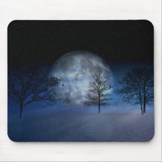 Full Moon Among the Treetops Mouse Pad