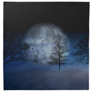 Full Moon Among the Treetops Napkin