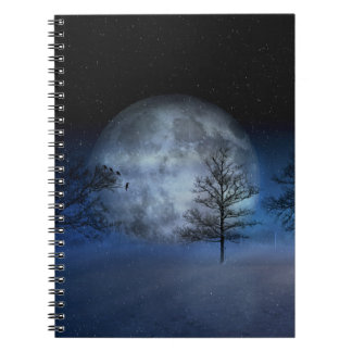 Full Moon Among the Treetops Spiral Notebook