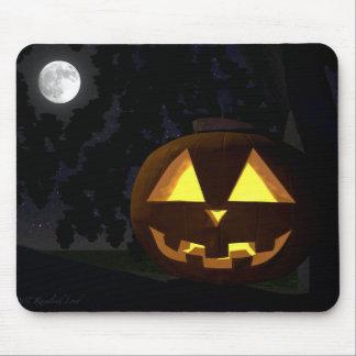 Full Moon and Jack O'Lantern Mousepad