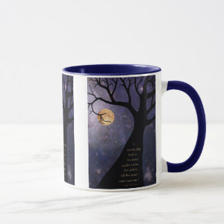 Full Moon Bare Trees Mug