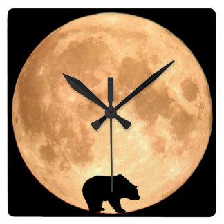 Full Moon Bear Wallclock