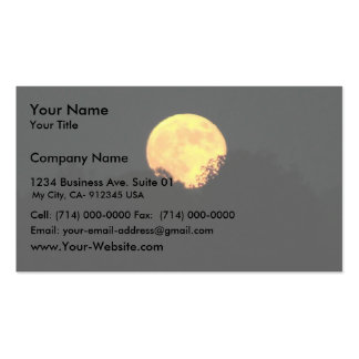 Full Moon Behind The Trees Business Cards