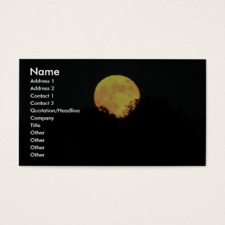 Full Moon Behind The Trees Business Card