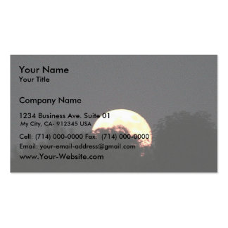 Full Moon Behind The Trees Business Card Templates
