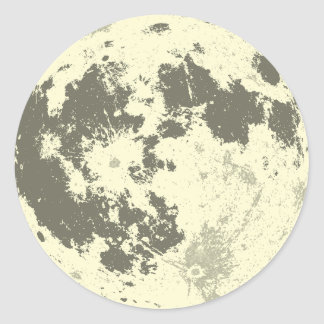 Full Moon Bright Supermoon Classic Round Sticker