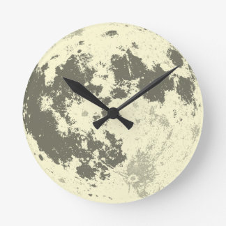 Full Moon Bright Supermoon Round Clock