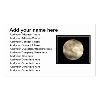Full Moon Business Card Templates