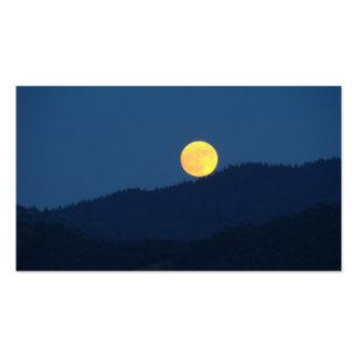 Full Moon Business Cards Orange Full Moon
