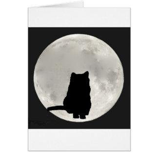 Full Moon Cat Card