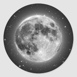 Full Moon Classic Round Sticker