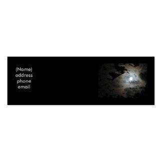Full Moon & Clouds Mini Business Card