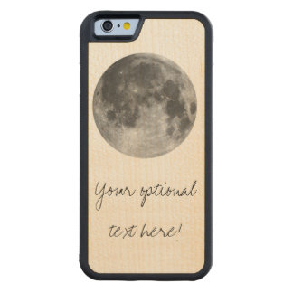 Full moon customizable products carved maple iPhone 6 bumper case