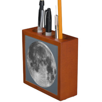Full moon customizable products desk organizer