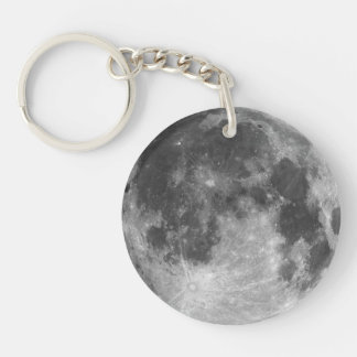 Full moon customizable products Double-Sided round acrylic keychain