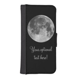 Full moon customizable products iPhone SE/5/5s wallet case