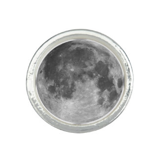 Full moon customizable products photo ring