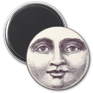 Full Moon Face Magnet