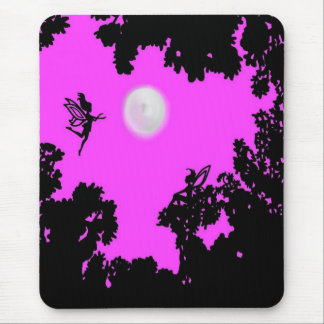 Full Moon Faerie Forest Mouse Pad