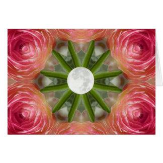 Full Moon Flower Mandala Card