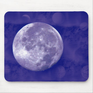 Full Moon Galaxy Mouse Pad