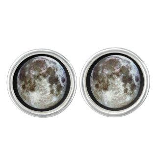 Full Moon Gold Cufflinks