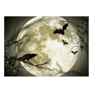 Full Moon Halloween Large Business Card