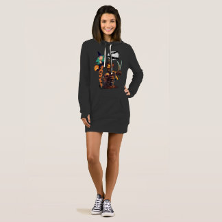 Full-moon Halloween Women's Hoodie Dress