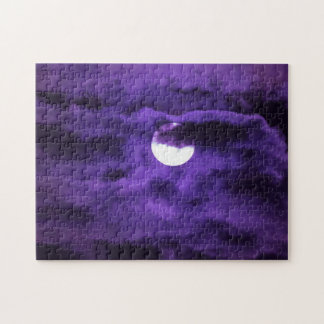 Full Moon in a Purple Cloudy Sky Puzzle
