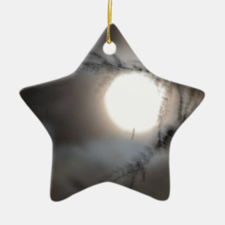 Full Moon in California Ceramic Star Ornament