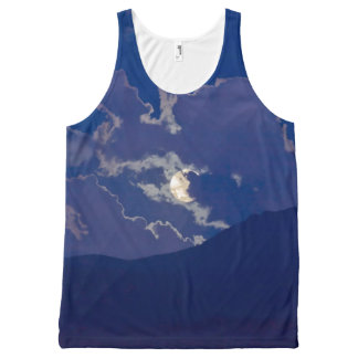 FULL MOON IN CLOUDS All-Over-Print TANK TOP