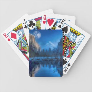 Full moon in Yosemite Bicycle Playing Cards