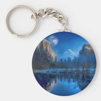Full moon in Yosemite Keychain