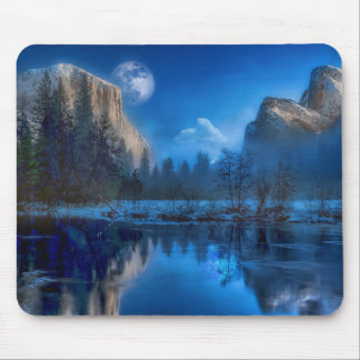Full moon in Yosemite Mouse Pad