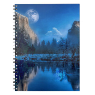 Full moon in Yosemite Notebook
