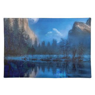 Full moon in Yosemite Placemat