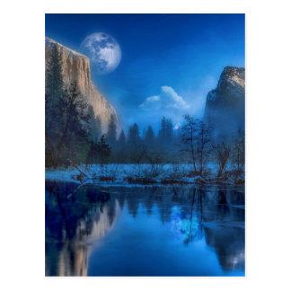 Full moon in Yosemite Postcard