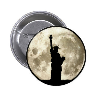 Full Moon Liberty Silhouette 2 Inch Round Button
