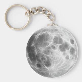 Full Moon Lunar Planet Globe Basic Round Button Keychain